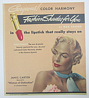 1950 Max Factor Color Harmony Lipstick W/ Woman
