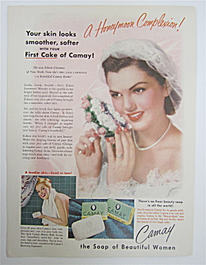 1951 Camay Soap With Lovely Bride