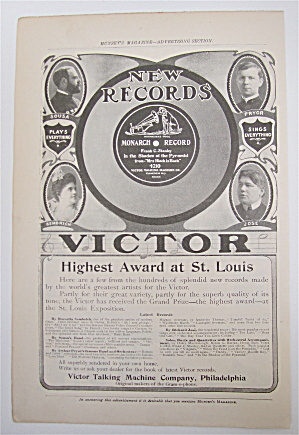 1905 Victor Records With Sousa, Pryor, Jose & Sembrich