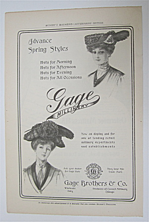 1905 Gage Millinery With Women Wearing Hats