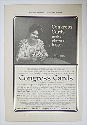 1905 Congress Cards With Woman Holding Cards
