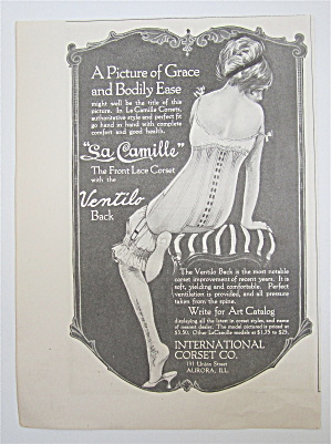 1917 La Camille Corsets With Woman Wearing Corset