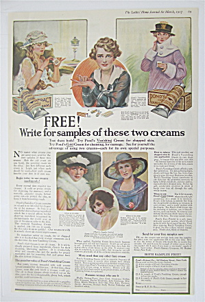 1917 Pond's Vanishing & Cold Cream With Women