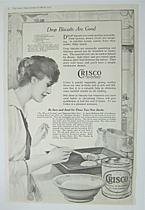 1917 Crisco Shortening with Woman Making Drop Biscuits (Image1)
