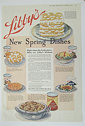 1917 Libby's Chili Con Carne With Spring Dishes