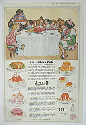 1917 Jell-o With Child's Birthday Party