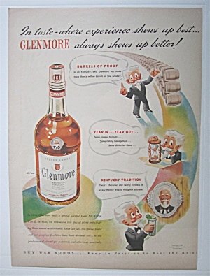 1943 Glenmore Whiskey w/ White Haired Man  (Image1)