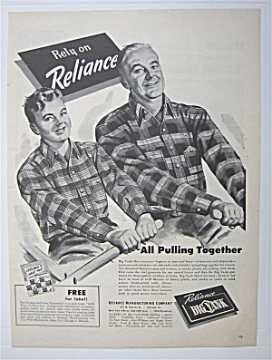 1943 Reliance Big Yank W/fatner & Son Rowing