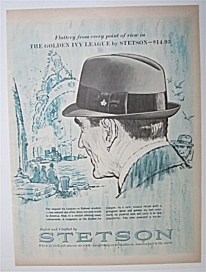 1964 Stetson Hats With The Golden Ivy League