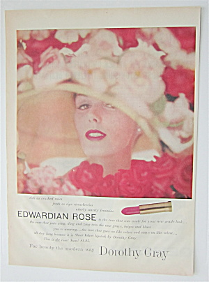 1957 Dorothy Gray With Edwardian Rose