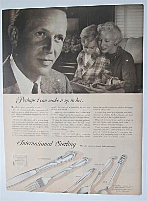 1957 International Sterling w/Woman Reading w/ Boy      (Image1)