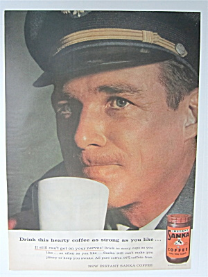 1957 Sanka Instant Coffee with an Airplane Pilot (Image1)