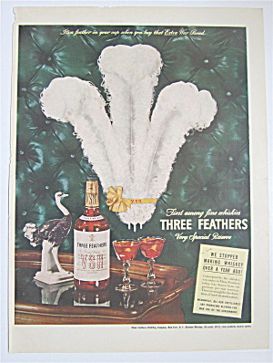 1944 Three Feathers Whiskey with Three Feathers  (Image1)