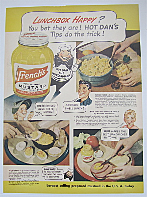 1944 French's Mustard With Hot Dan The Mustard Man