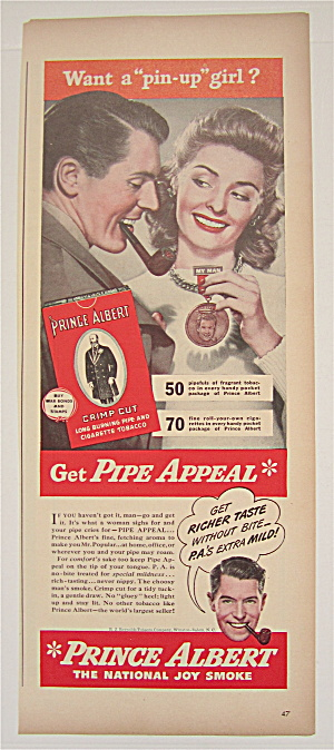 1944 Prince Albert Tobacco with Woman Holding Medal (Image1)