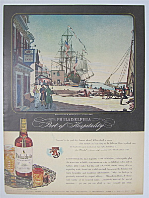 1944 Philadelphia Whiskey with Waterfront at Arch St. (Image1)