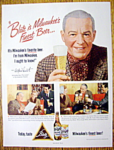 Vintage Ad: 1952 Blatz Beer with Alfred Lunt (Image1)