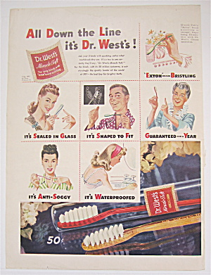 1945 Dr West Toothbrush W/ Many People