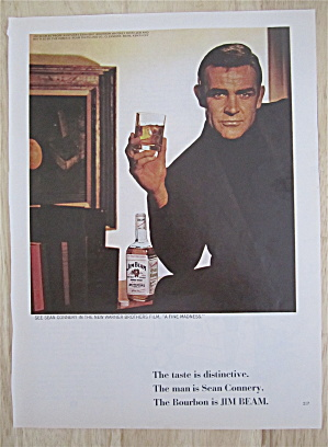 1966 Jim Beam Whiskey With Sean Connery