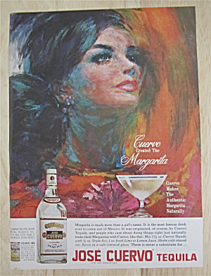 1967 Jose Cuervo Tequila With Beautiful Woman