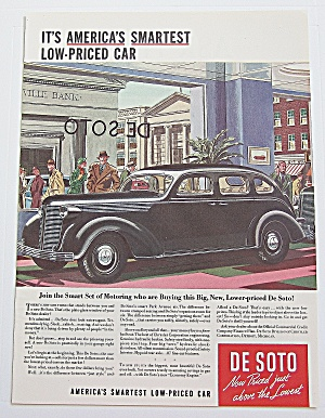 1937 De Soto With Smartest Low Priced Car