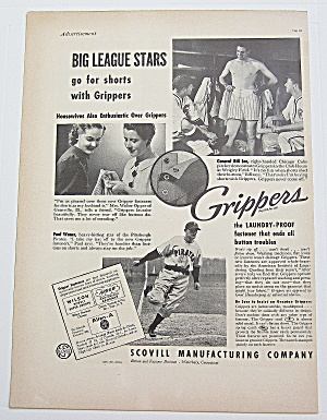 1937 Grippers With Pirates' Paul Waner & Cubs' Bill Lee