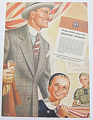 1937 Timely Clothes W Man & Boy With Horns At Election