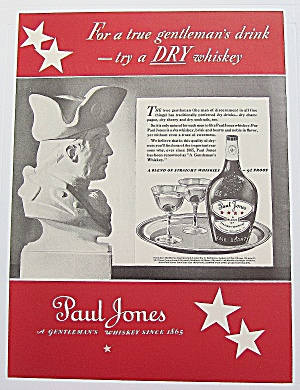 1937 Paul Jones Whiskey With Bust Of Soldier (Image1)