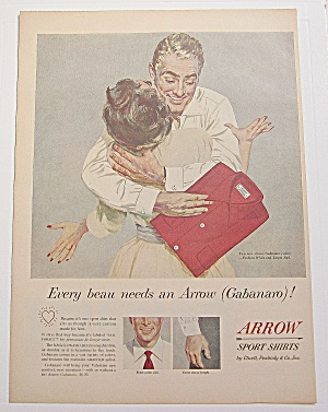 1954 Arrow Sport Shirt With Man Hugging Woman
