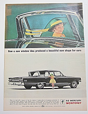 1962 Mercury Monterey W/little Girl Looking In The Car