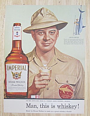 1945 Imperial Whiskey With Whiskey Going Into Barrel