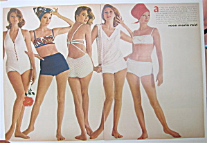 1964 Rose Marie Reid With Women In Swimsuits