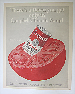 1925 Campbell's Tomato Soup W/can Of Soup In Tomato
