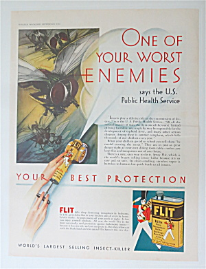 1930 Flit Insect Killer with Sprayer Spraying Bugs  (Image1)