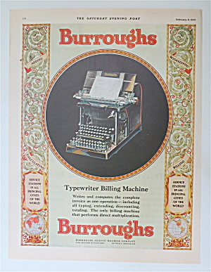1930 Burroughs Adding Machine W/typewriter Billing