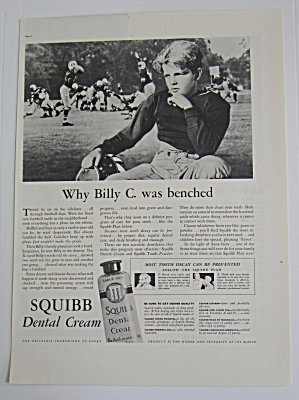 1937 Squibb Dental Cream with Billy C. Was Benched  (Image1)