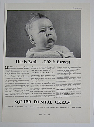 1937 Squibb Dental Cream with Little Baby Looking (Image1)