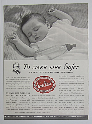 1937 Sealtest with Baby Sleeping with an Empty Bottle  (Image1)
