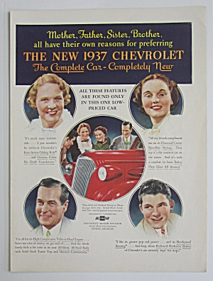 1937 Chevrolet With 4 Different People