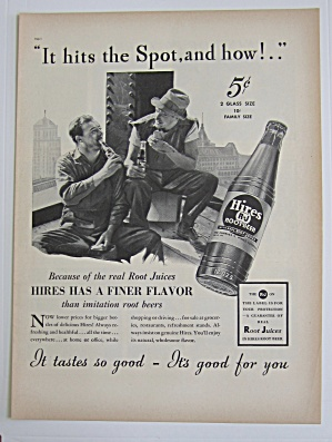 1937 Hires Root Beer With Men Working