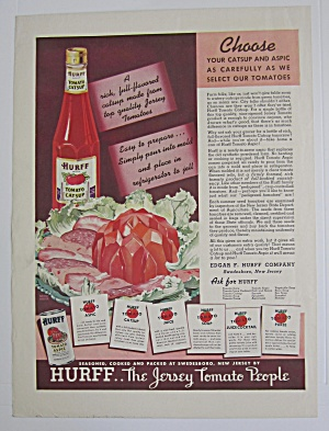 1937 Hurff Tomato Catsup With Jar Of Catsup