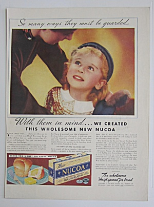 1937 Nucoa Margarine With Little Girl Smiling