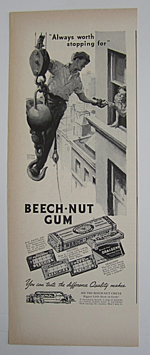 1937 Beech Nut Gum with Man on Wrecking Ball  (Image1)