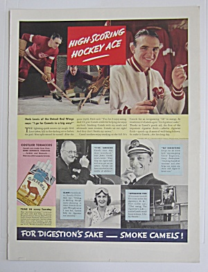 1937 Camel Cigarettes with Hockey Ace Herb Lewis  (Image1)