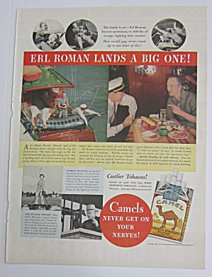 1937 Camel Cigarettes with Sportsman Erl Roman  (Image1)