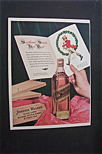 1941 Dual Ad: Johnnie Walker Black & Greyhound