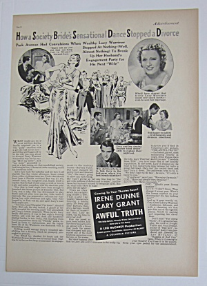 1937 The Awful Truth with Cary Grant & Irene Dunne (Image1)