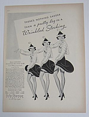 1937 Belle Sharmeer Stockings With Three Women