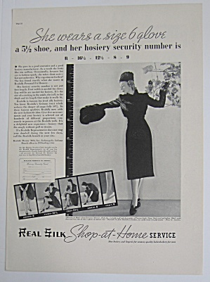 1937 Real Silk Hosiery with Lovely Woman  (Image1)