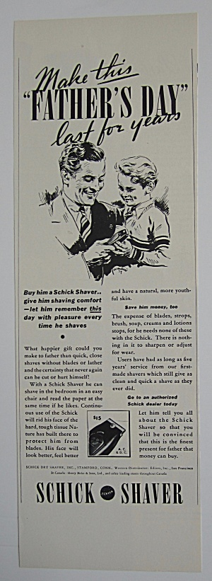 1937 Schick Shaver with Dad on Father's Day  (Image1)